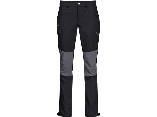 Bergans Nordmarka Hybrid Pantalones Mujer, negro/gris